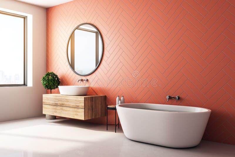 Moderne orange Badezimmerseite vektor abbildung