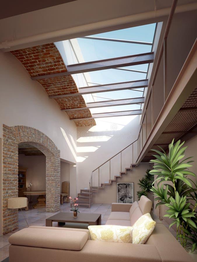 Moderne Penthouse royalty-vrije illustratie