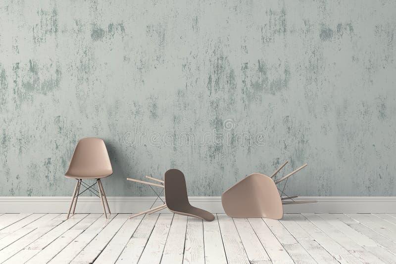 Moderne plastic stoel royalty-vrije stock foto's