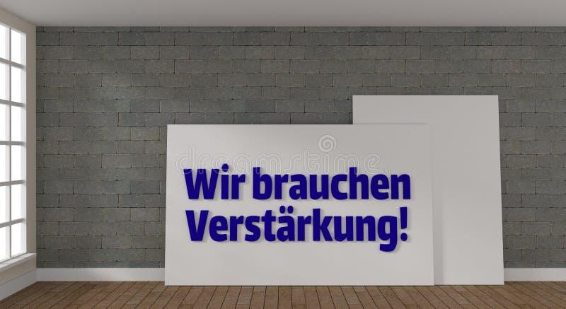 Moderne puristic ruimte met affiche vector illustratie