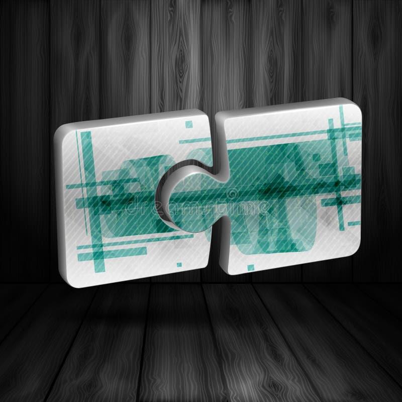 Moderne Puzzlespiel-Schablone stock abbildung