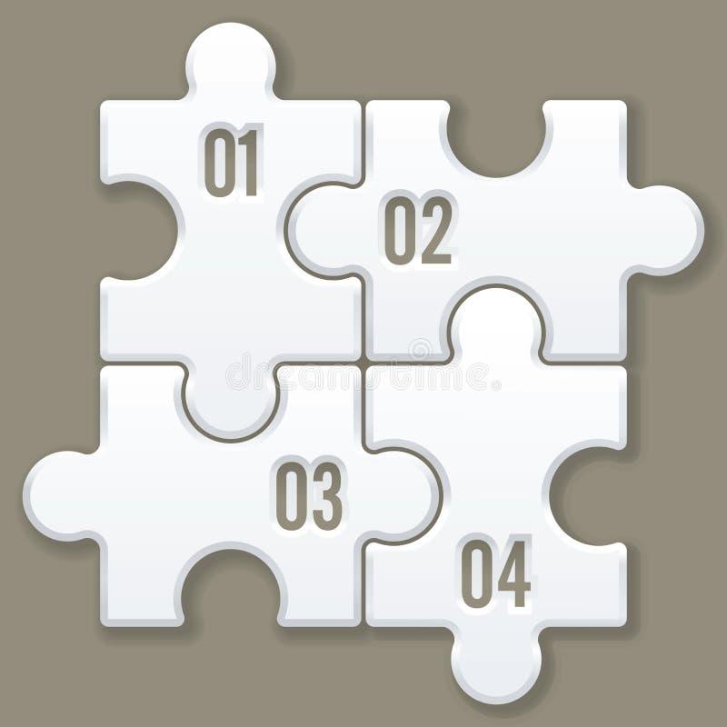 Moderne Puzzlespielschablone stock abbildung