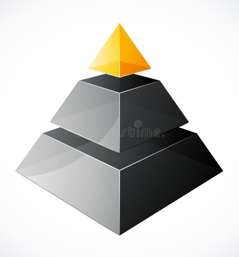 Moderne Pyramideauslegung stock abbildung
