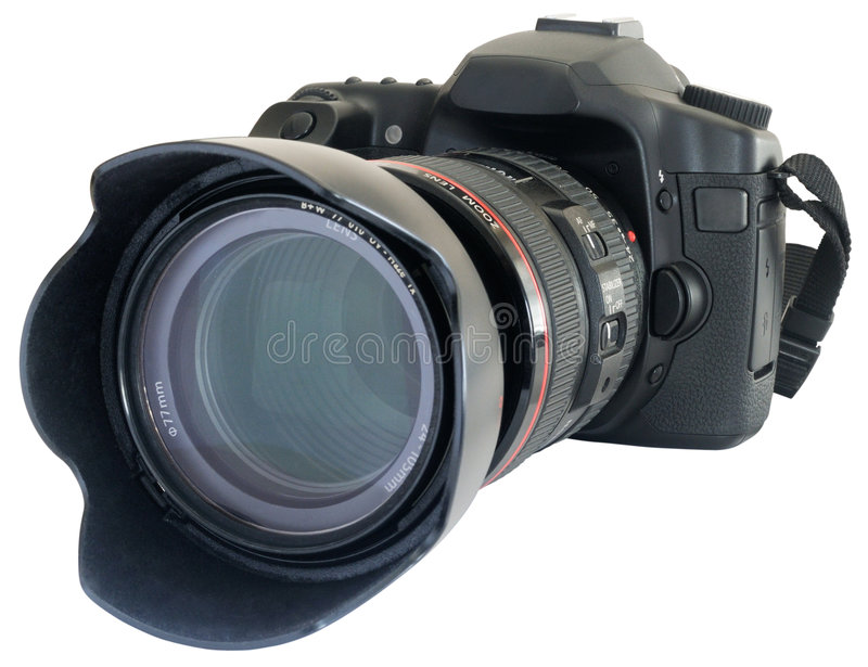 Moderne Reflexkamera stockbilder