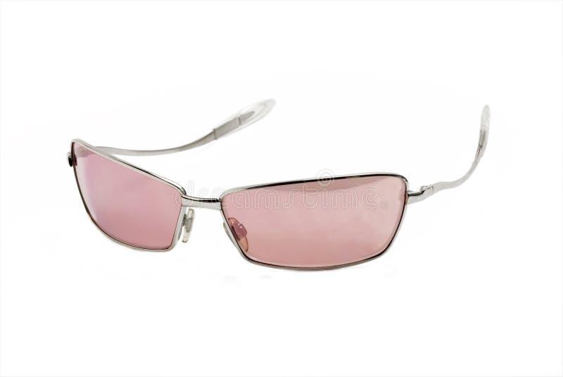 Moderne rosafarbene Sonnenbrillen stockfoto