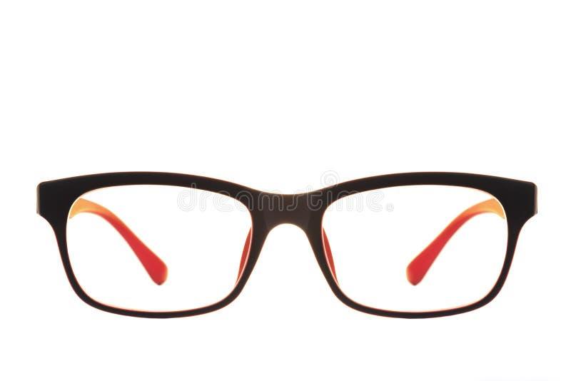 Moderne rote und schwarze Art und Weiseaugengläser getrennt lizenzfreie stockfotos