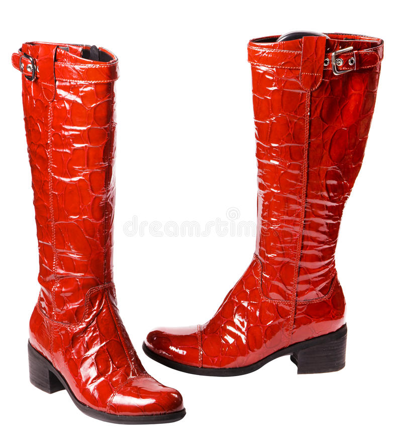 Moderne rote weibliche Matten stockfoto