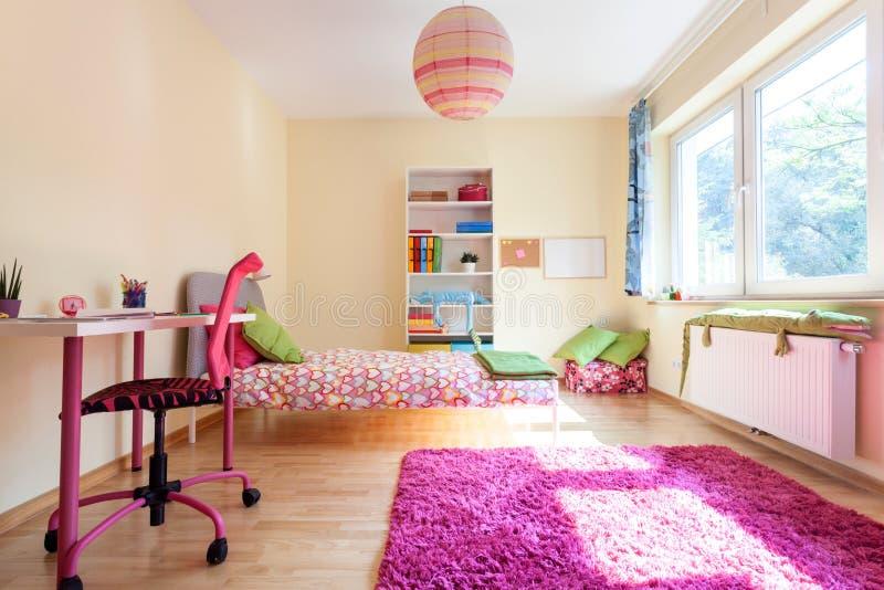 Moderne ruimte voor een meisje royalty-vrije stock foto