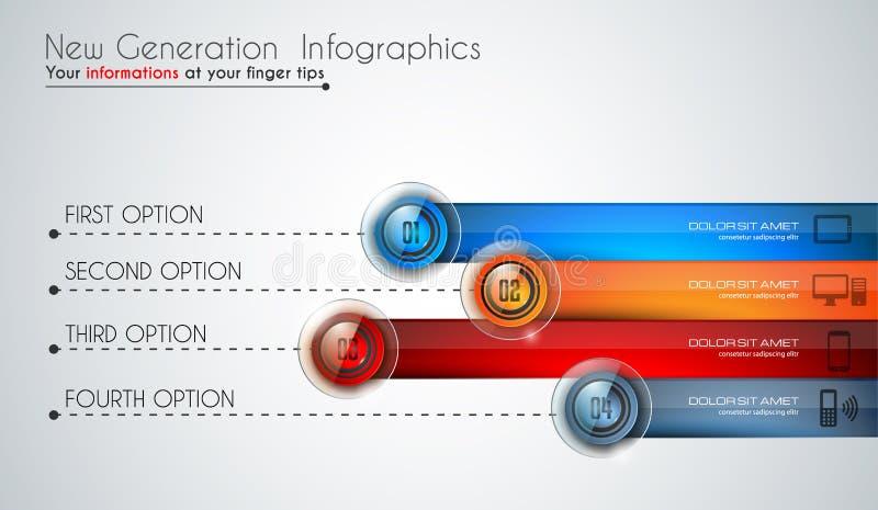 Moderne Schablone Infographics, zum von Daten und von Informationen zu klassifizieren lizenzfreie abbildung