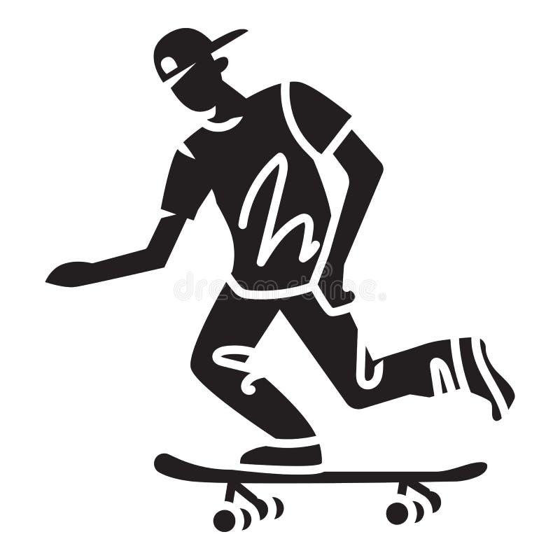 Moderne Schlittschuhläuferikone, einfache Art stock abbildung