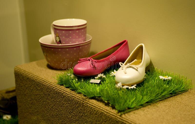 Moderne schoenen stock foto's