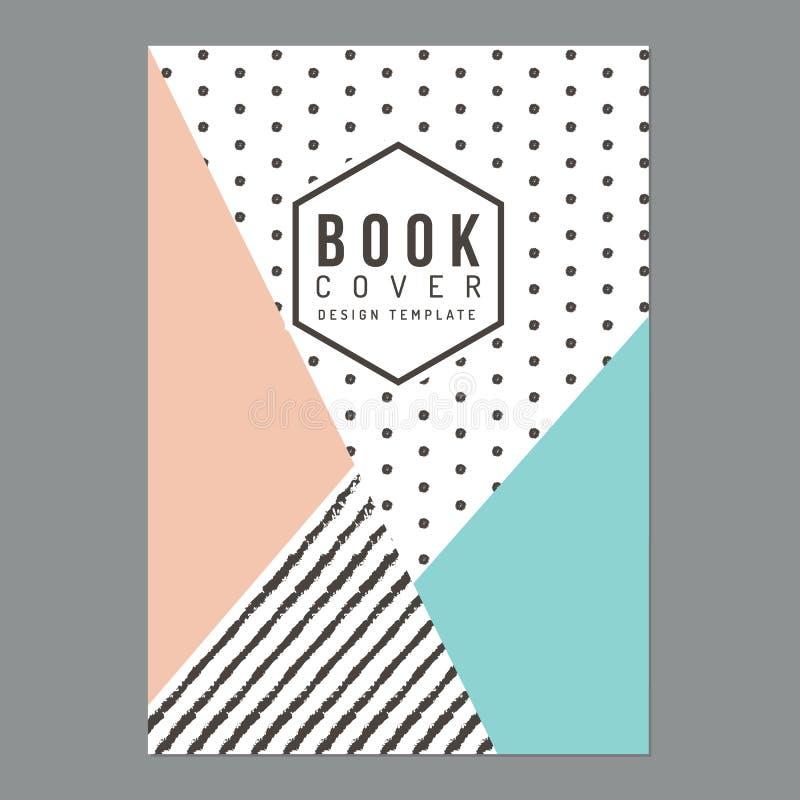 Moderne schone boekdekking, Affiche, Vlieger, Brochure, Bedrijfprofiel, de lay-outmalplaatje van het jaarverslagontwerp in A4 gro vector illustratie