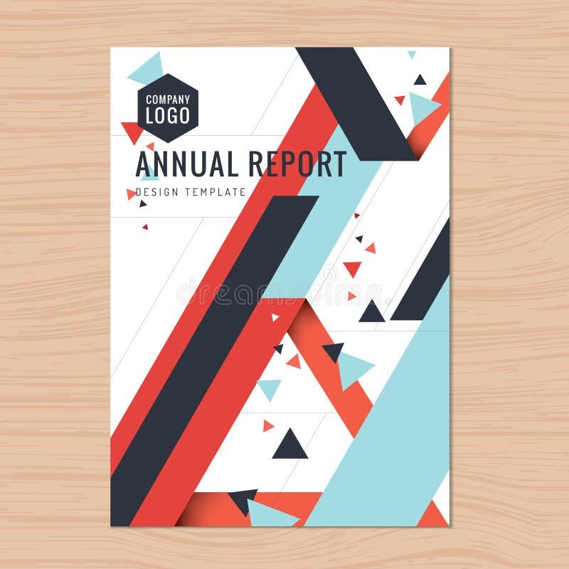 Moderne schone dekking voor bedrijfsvoorstel, jaarverslag, brochure, vlieger, pamflet, collectieve presentatie, boekdekking royalty-vrije illustratie
