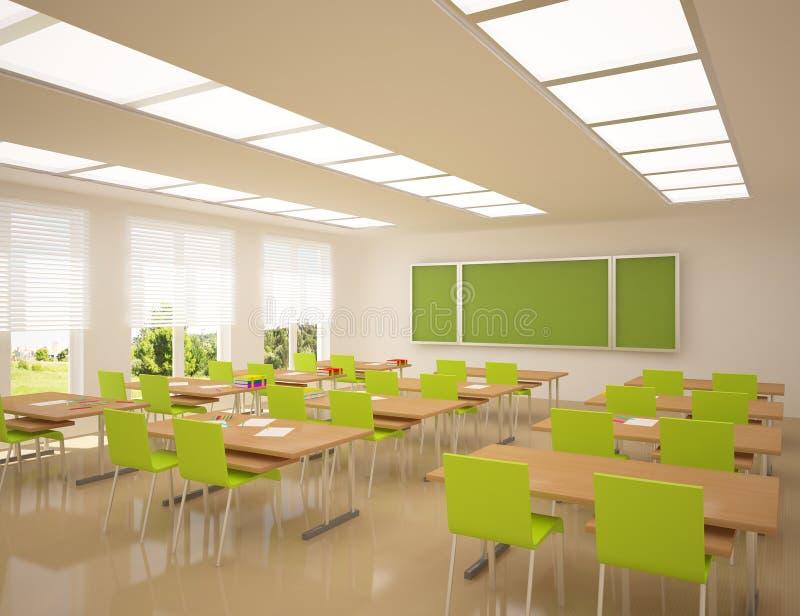 Moderne schoolflat stock illustratie
