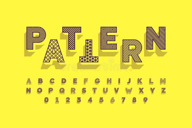Moderne Schriftart vektor abbildung