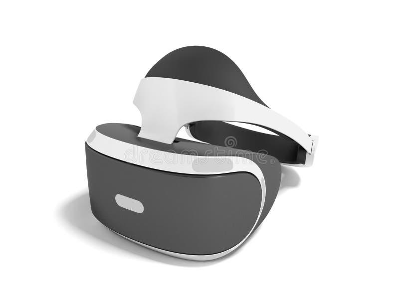 Moderne Schutzbrillen sind Wirklichkeit für Spiele und Weiß mit schwarzem Akzent lizenzfreie abbildung