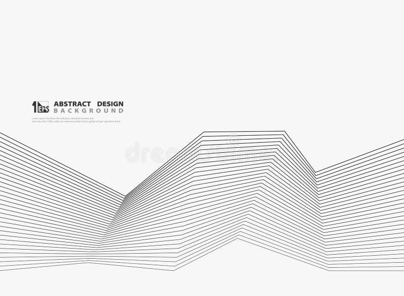 Moderne schwarze Linie Entwurf der Zusammenfassung auf weißem Hintergrund Illustrationsvektor eps10 vektor abbildung