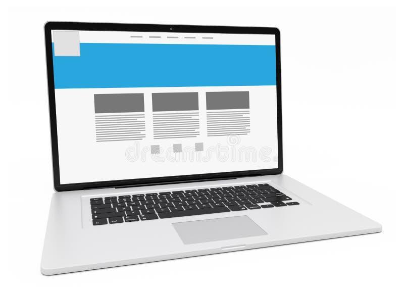 Download Moderne Silberne Wiedergabe Des Laptops 3D Stock Abbildung - Illustration von einheit, angriff: 106800127
