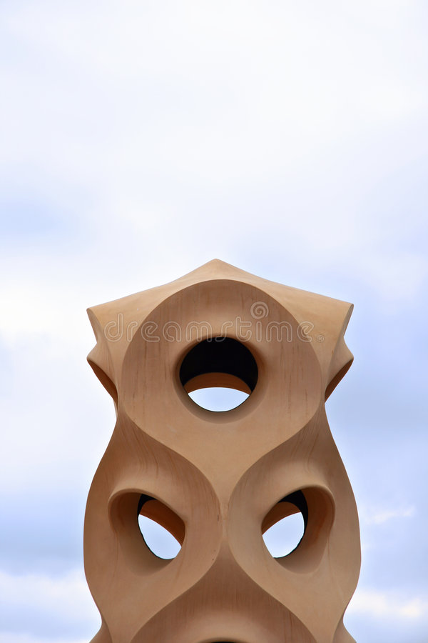 Moderne Skulptur stockfoto