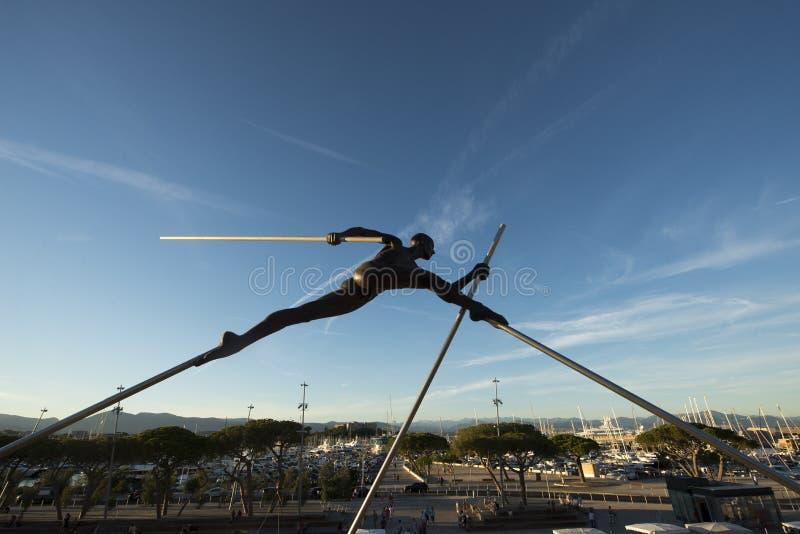 Moderne Skulptur in Antibes, Frankreich stockfoto