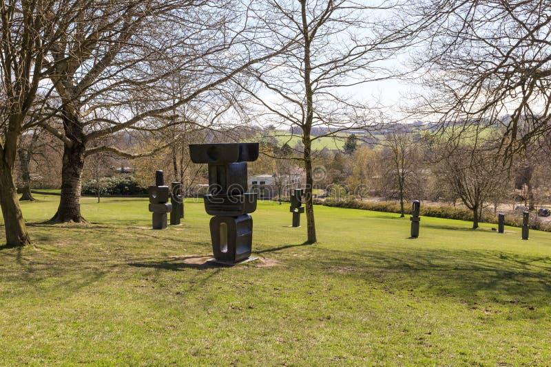 Moderne Skulptur im YSP lizenzfreie stockbilder