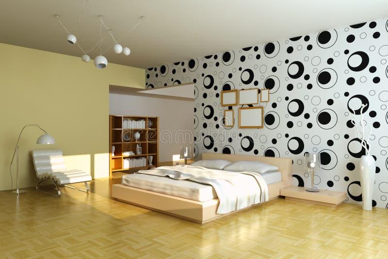 Moderne slaapkamer stock illustratie
