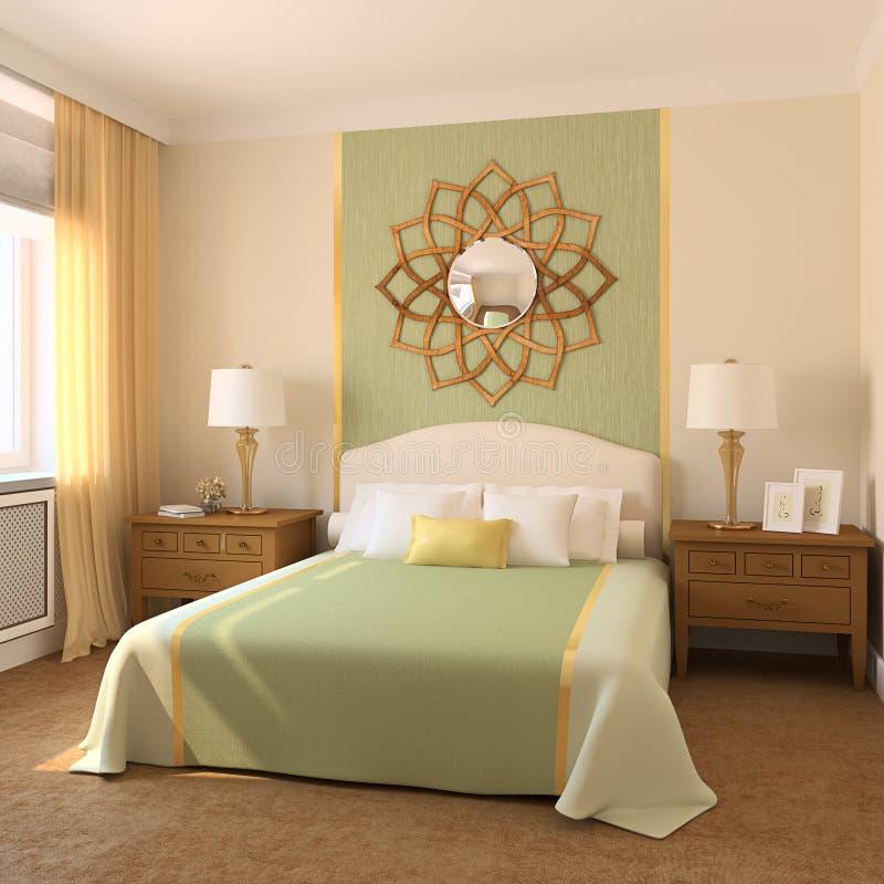 Moderne slaapkamer. stock illustratie