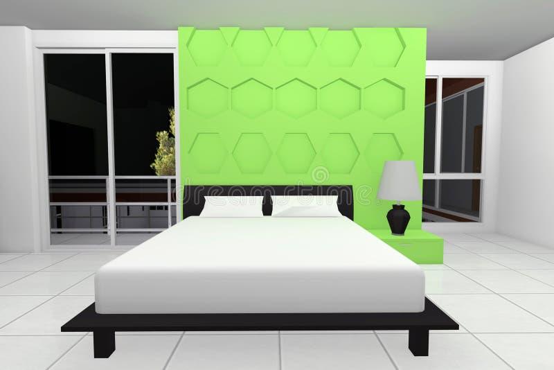 Moderne Slaapkamer vector illustratie