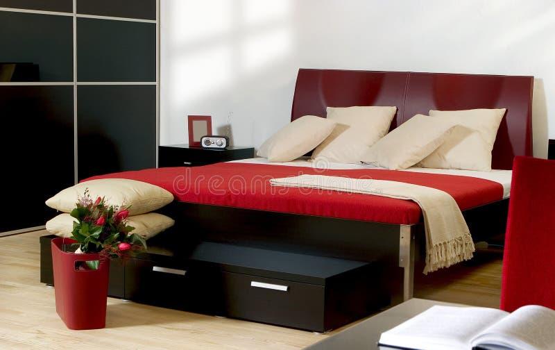 Moderne slaapkamer stock foto