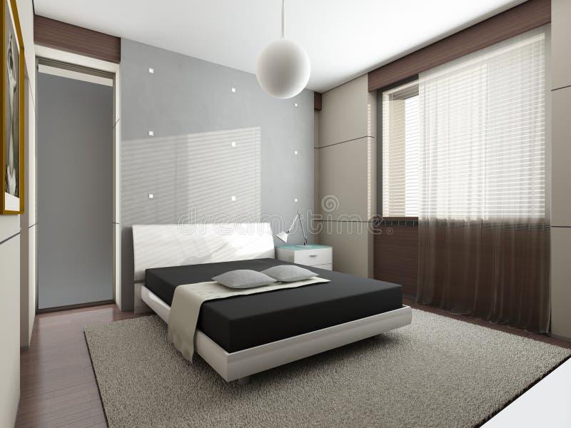 Moderne slaapkamer royalty-vrije illustratie