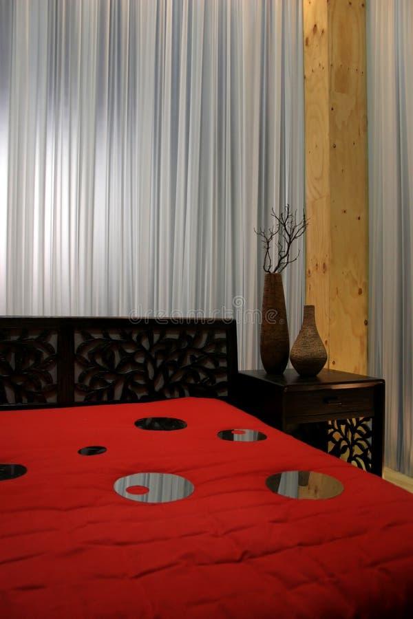 Moderne slaapkamer - huisbinnenland stock foto's