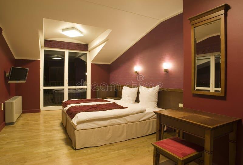Moderne slaapkamermening royalty-vrije stock foto