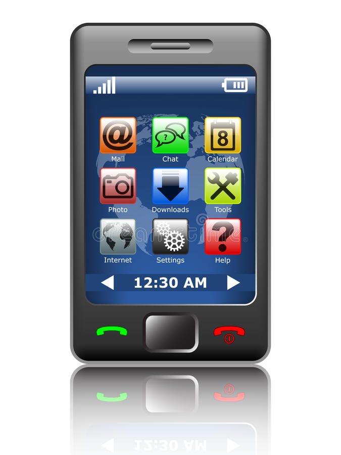 Moderne smartphone stock illustratie