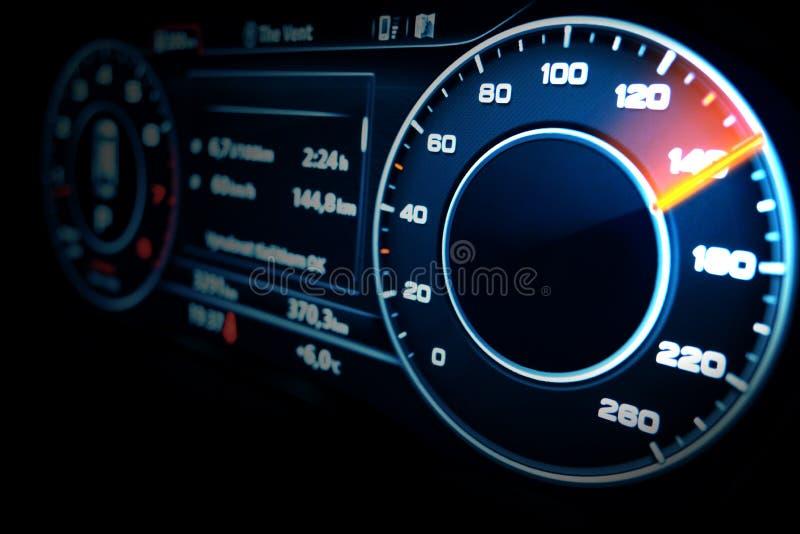 Moderne snelheidsmeter stock afbeelding
