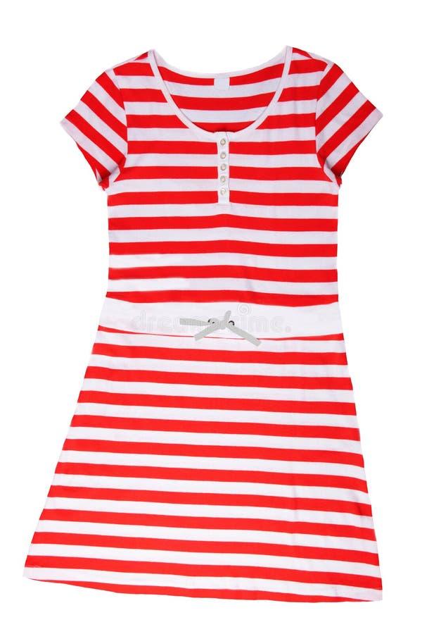 Moderne Sommerkleidung lokalisiert auf einem weißen Hintergrund Rotes w stockfoto