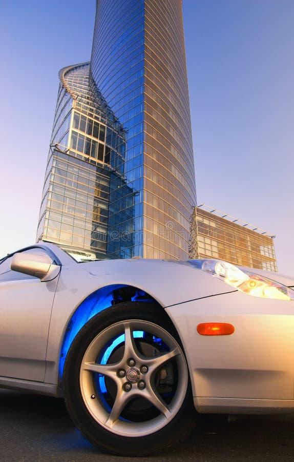 Moderne sportwagen royalty-vrije stock fotografie