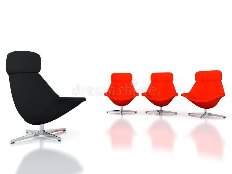 Moderne Stühle lizenzfreie abbildung