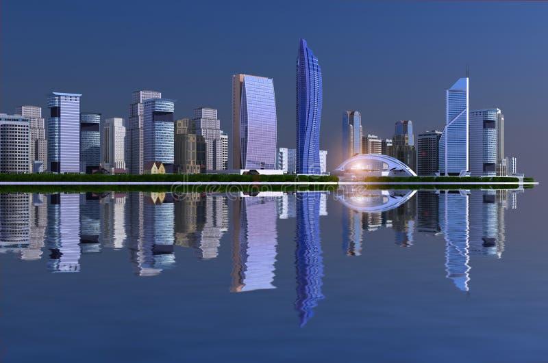 Moderne stad royalty-vrije illustratie