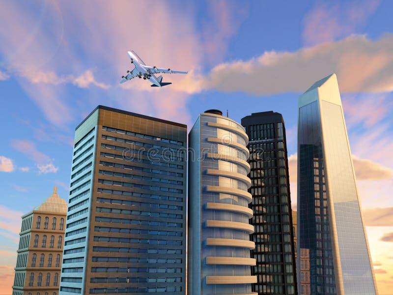 Download Moderne stad stock illustratie. Illustratie bestaande uit landgoed - 39104559