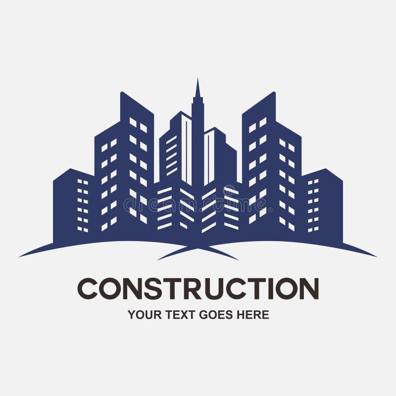 Moderne stadsbouwconstructie stock illustratie