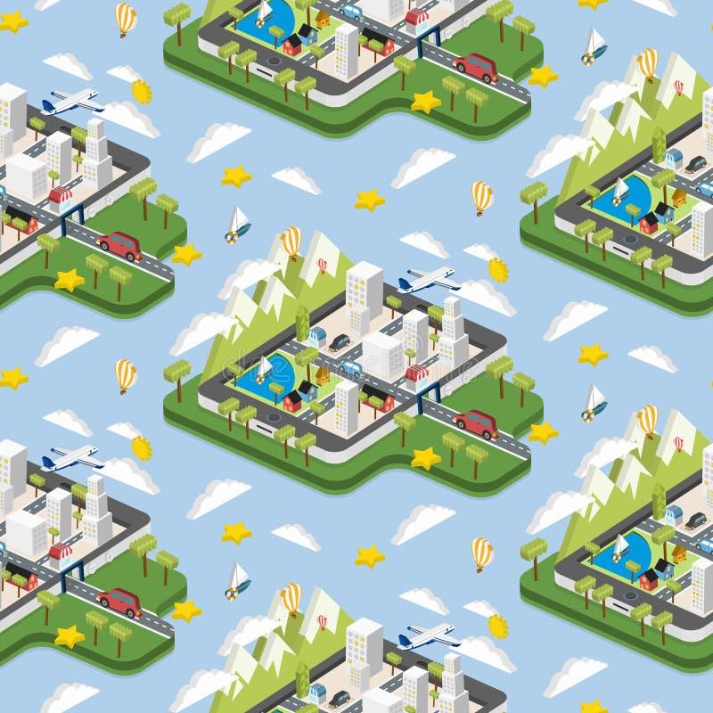 Moderne stadsillustratie stock illustratie