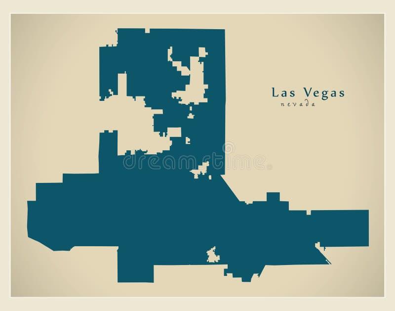 Moderne Stadskaart - de stad van Las Vegas Nevada van de V.S. stock illustratie
