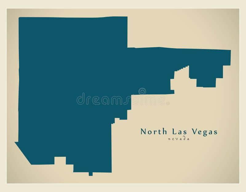 Moderne Stadskaart - stad de Noord- van Las Vegas Nevada van de V.S. royalty-vrije illustratie