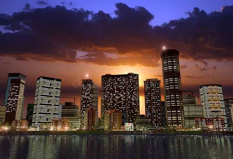 Moderne Stadt stock abbildung