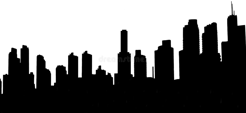 Moderne Stadt-Skyline. stockfoto