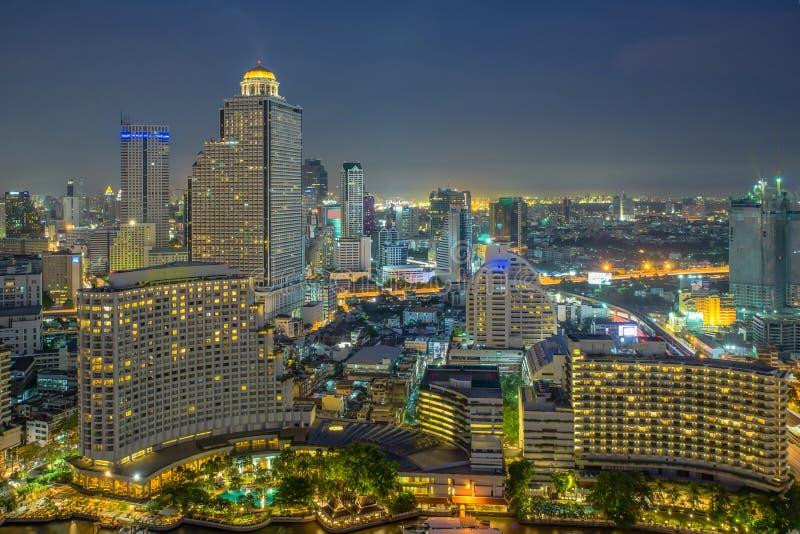 Moderne Stadtansicht von Bangkok, Thailand cityscape lizenzfreie stockfotografie