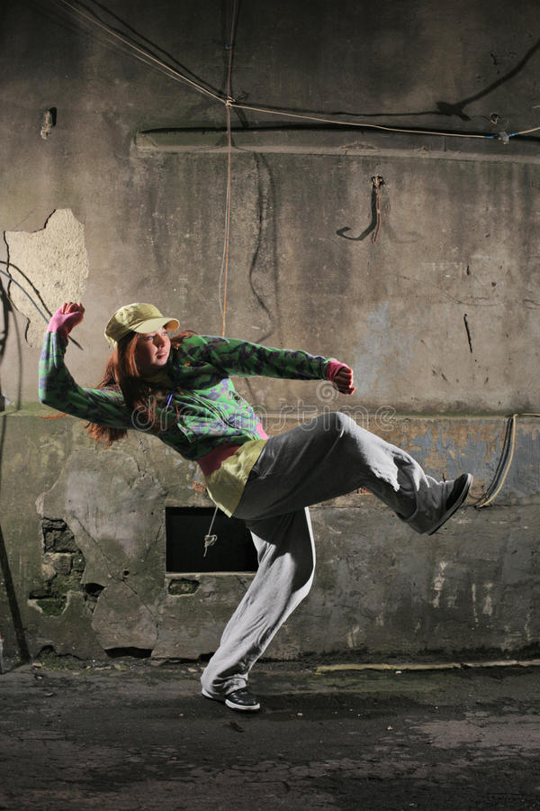 Moderne stedelijke dans stock afbeelding