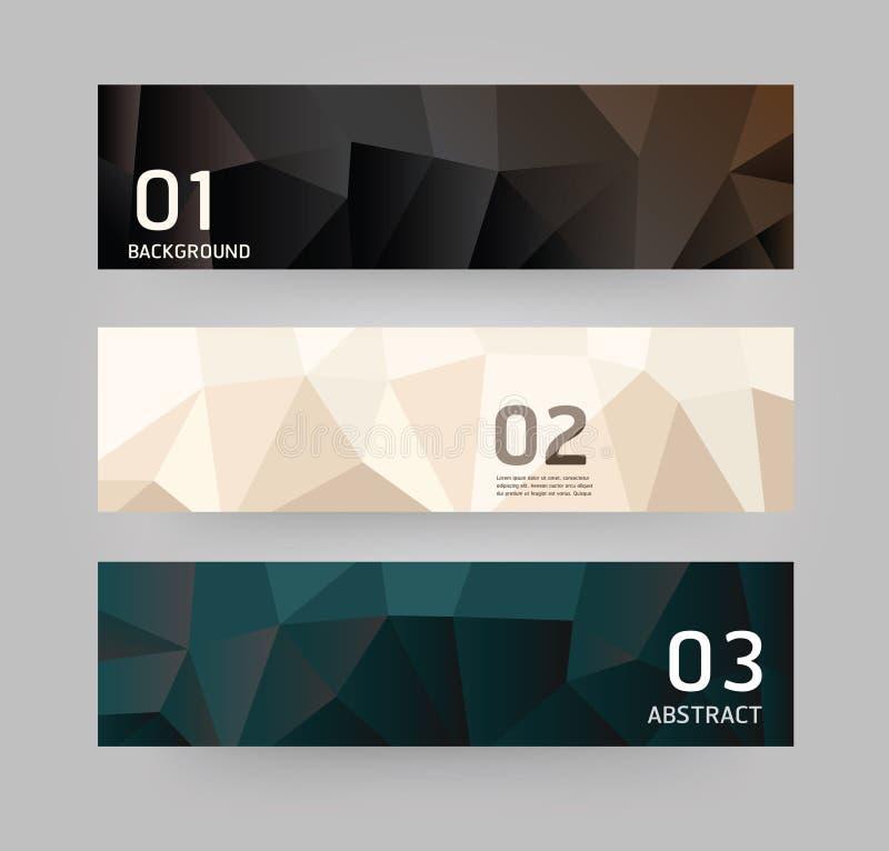 Moderne stijl van het etiketten de Abstracte Geometrische ontwerp stock illustratie