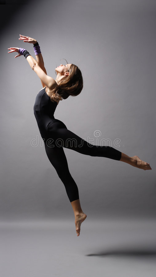 Moderne stijldanser stock afbeeldingen