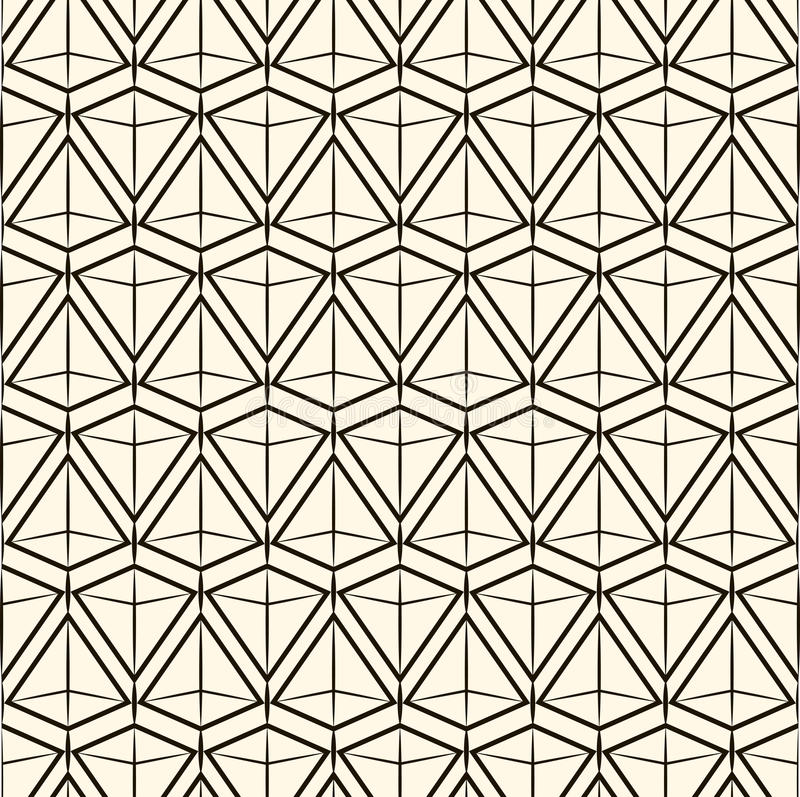 Moderne stilvolle Beschaffenheit des nahtlosen Musters des Vektors Wiederholen von geometrischen Fliesen vektor abbildung
